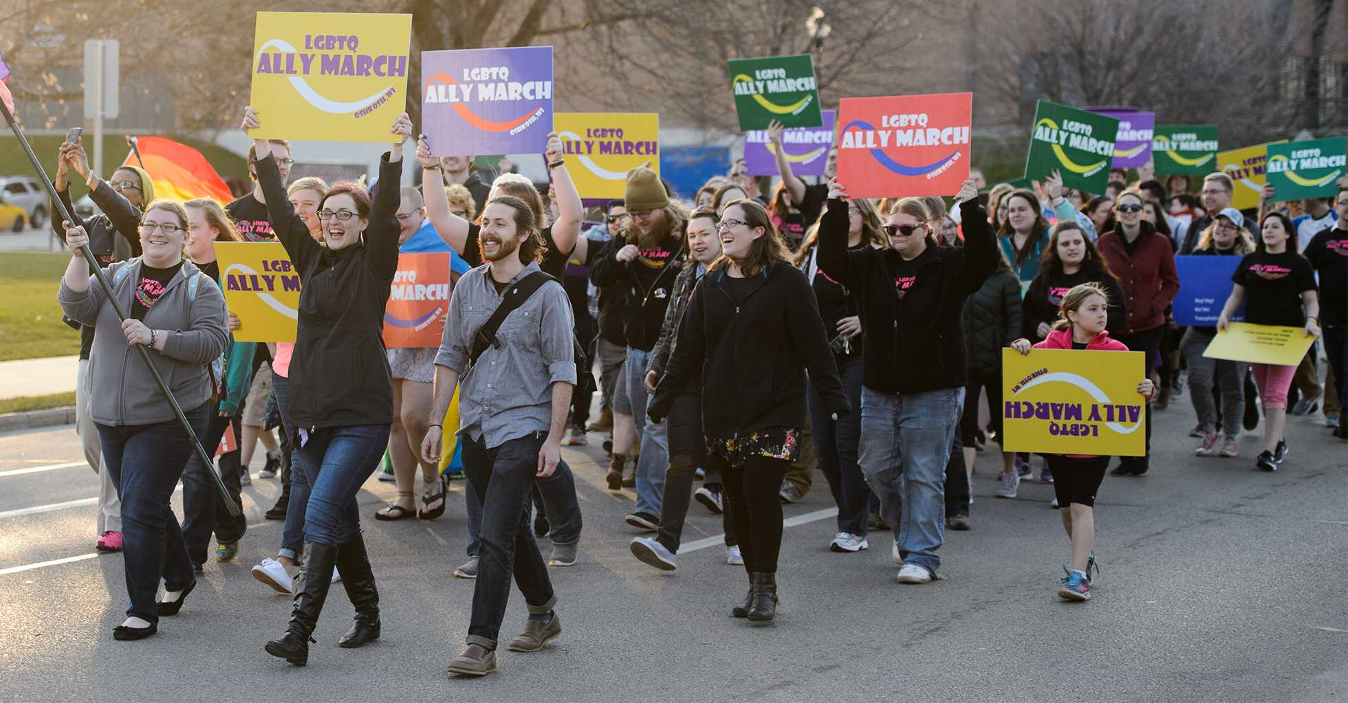 LGBTQ community and allies rally together