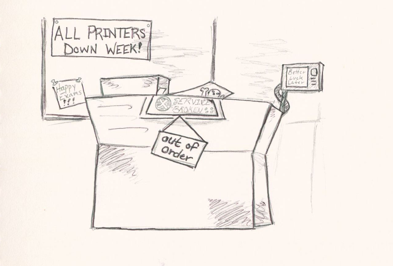 Printers on strike