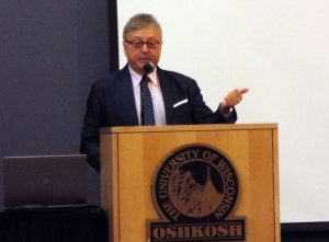 Michael Uslan speaks to students about the obstacles he has overcome in the first University speaker series this year.