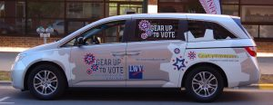 The Gear Up To Vote van will arrive at UWO on Thursday Sept. 22 outside of Reeve Memorial Union.