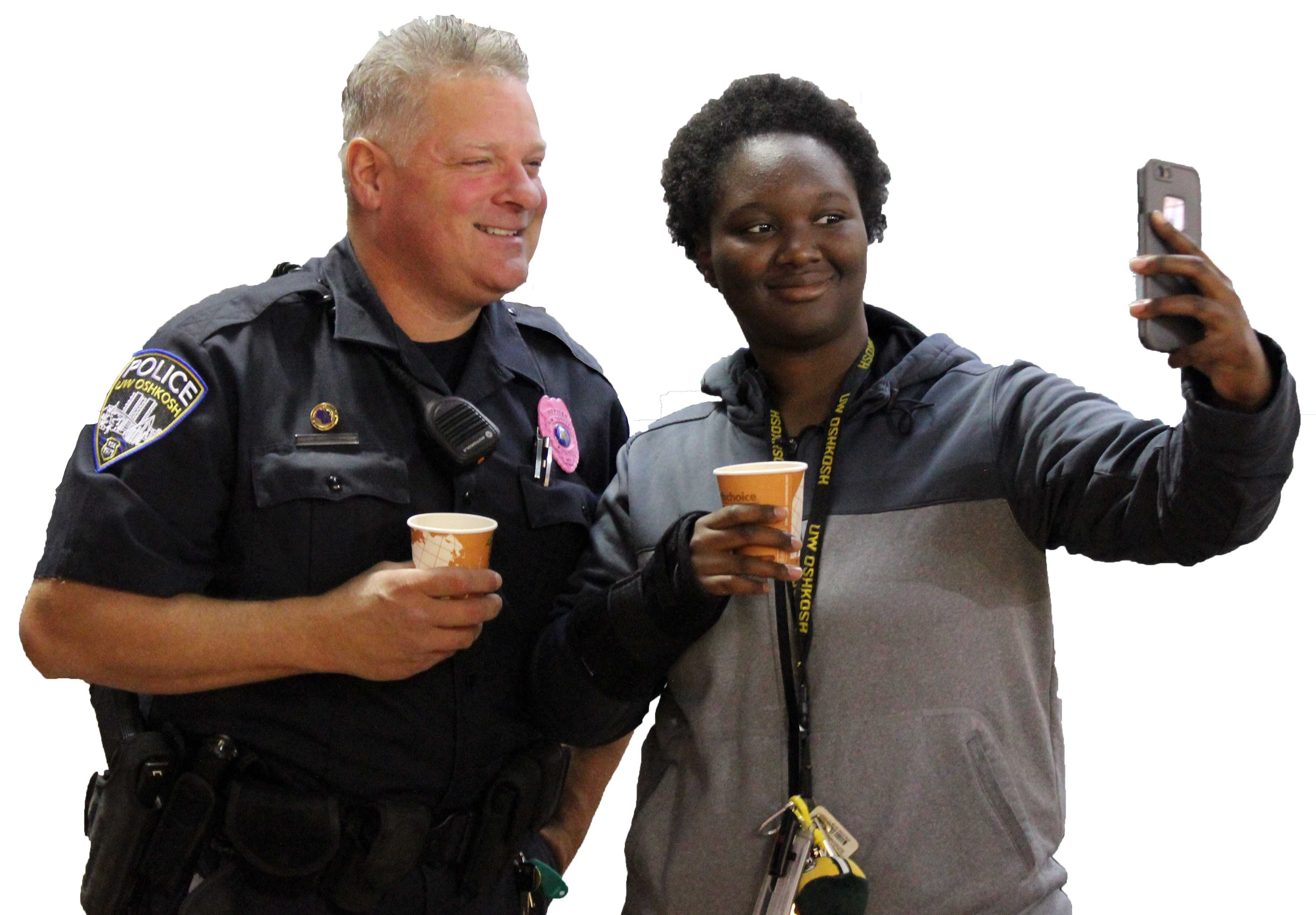 Students, cops unite for coffee break