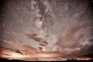 Mosher captures the night sky's illumination created by the Northern Lights in northern Wisconsin.