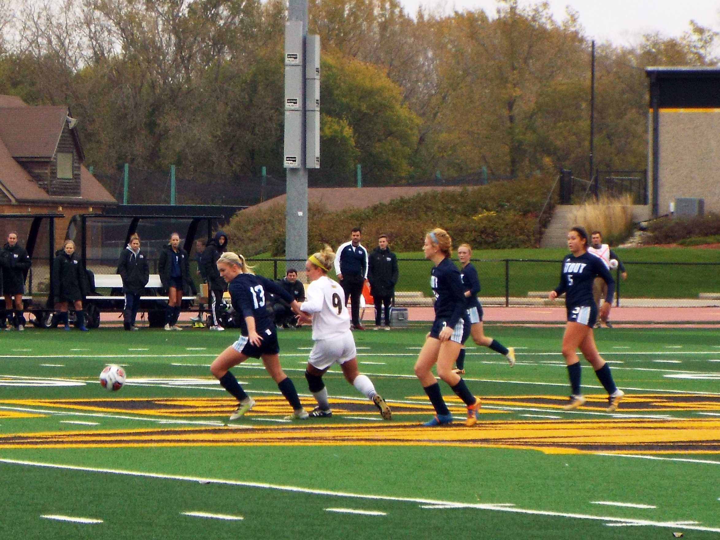 Women's soccer plays for a cause
