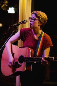 Sara McArthur performs at Open Mic Night Tuesday.