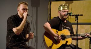 """Cullen Sampson shows his impressive rap and acoustic skills Thursday night performing songs such as, """"Playing with Fire,"""" """"Black Sheep"""" and """"Flashlight."""""""