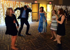 Students dance the night away at the Harry Potter-themed Yule Ball.