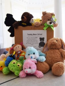 UHSA collects teddy bears and cash donations for children at Mercy.