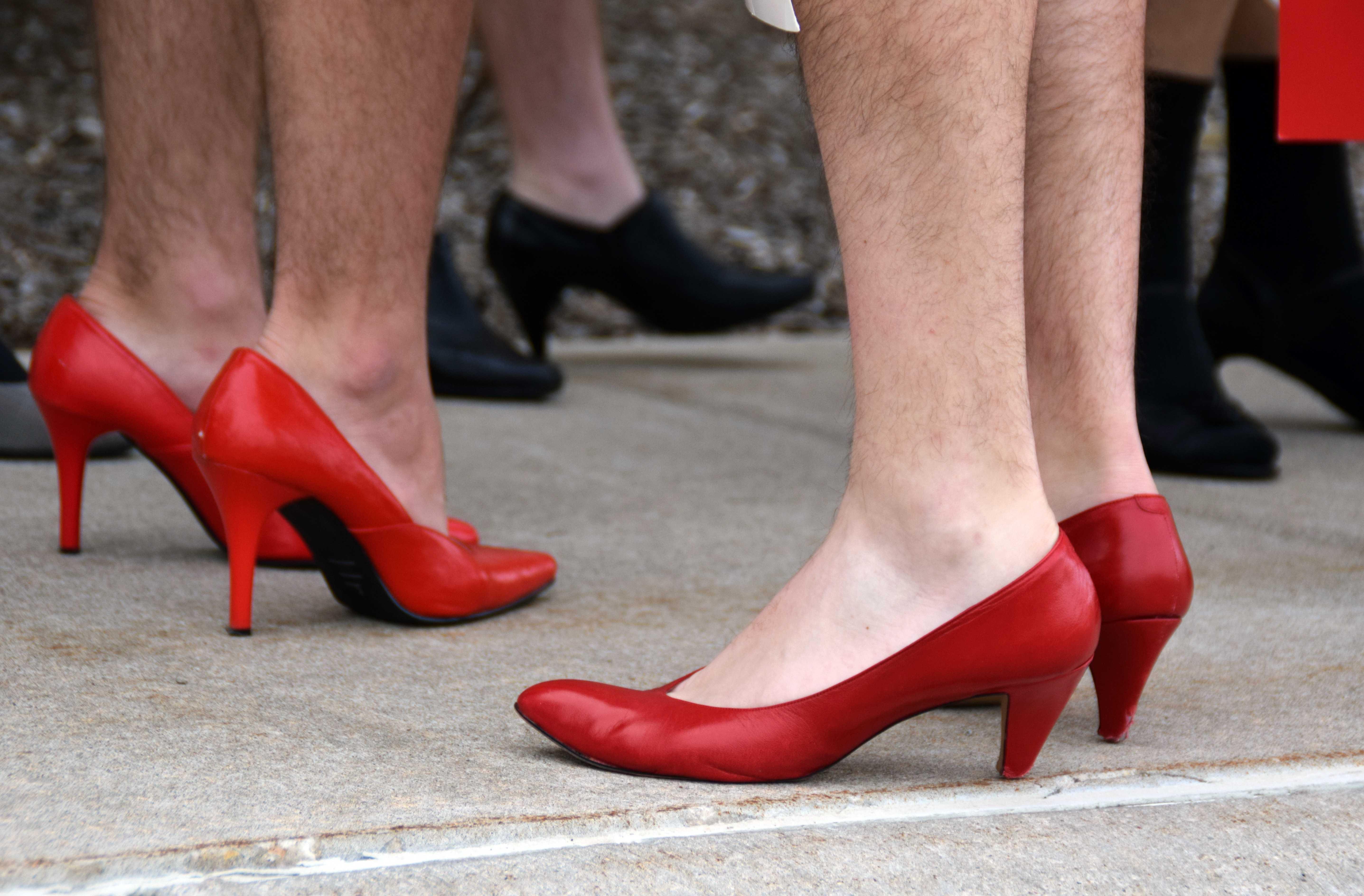 Heels hit the streets to stop rape, assault