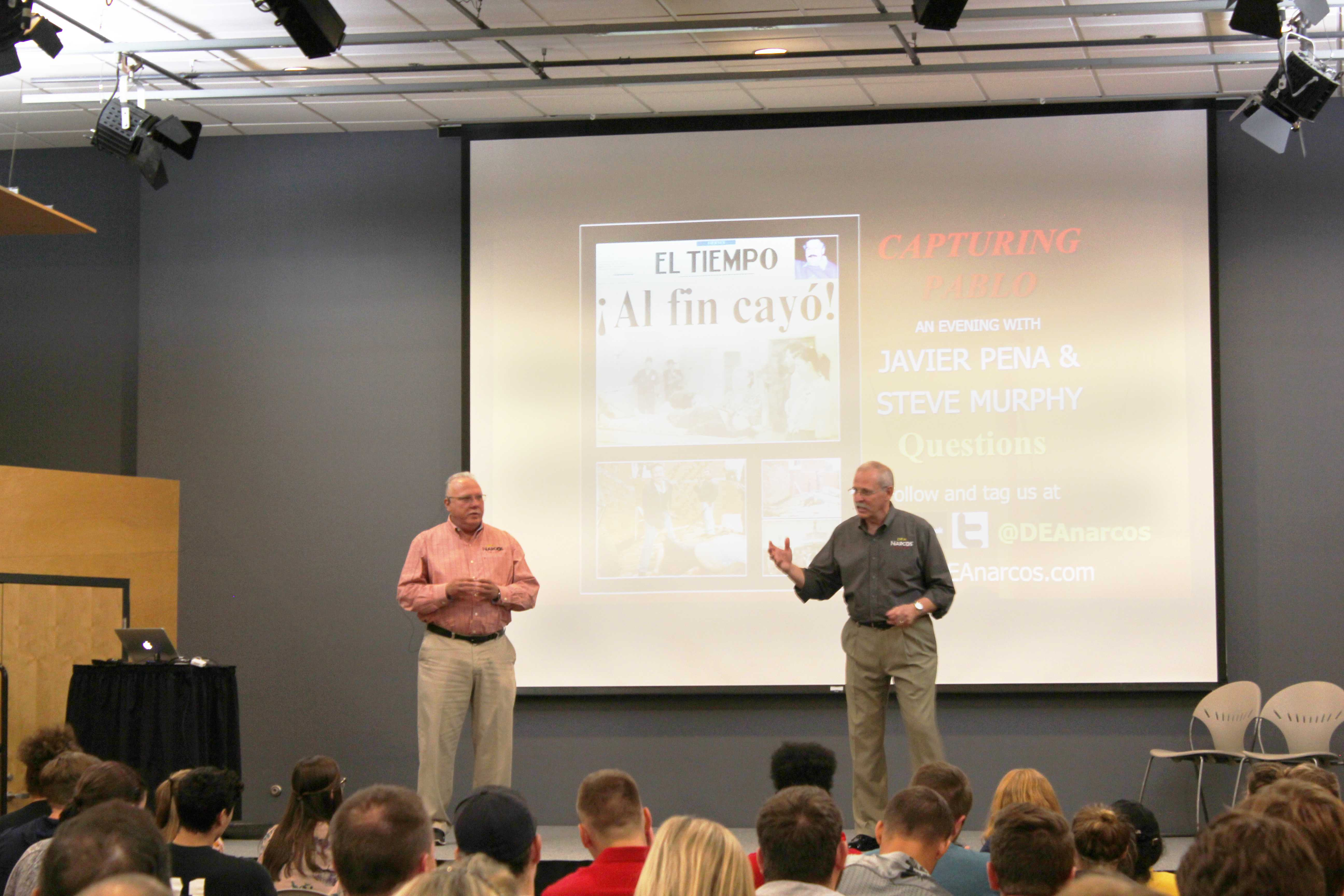 Former DEA agents who inspired Netflix series 'Narcos' speak at UWO about their manhunt
