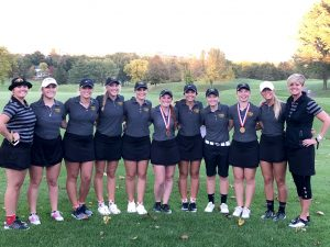 UWO women's golf come together after the team's third-place finish at the Reedsburg Country Club to end the season.