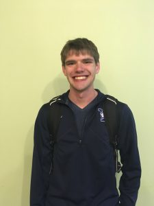 """Senior Zach Tazalla """"I'd rather be the person people-watching because it's fun to see people out of context and see people interact. You can go off to the side and forget about your own life."""""""