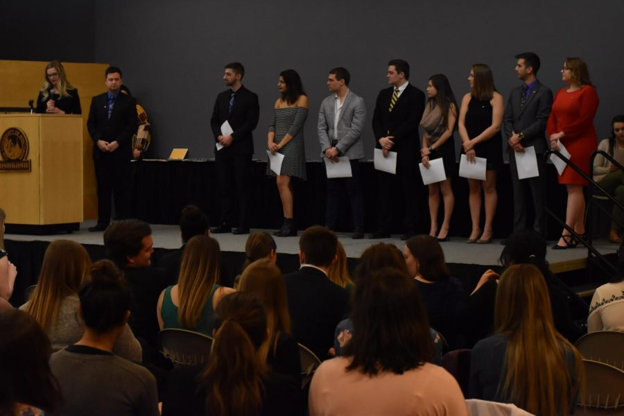 UWO Greek Life community honors outstanding members, good deeds