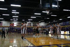 Sophomore forward Jack Flynn shoots a free throw as the crowd at Quandt Fieldhouse looks on. Flynn finished with a double-double as he scored 11 points while recording a team-high 10 rebounds. The UW Oshkosh Titans are traveling to Springfield, Ohio for the first round of the NCAA D-III tournament where they will face Marietta College of Ohio on Friday afternoon.