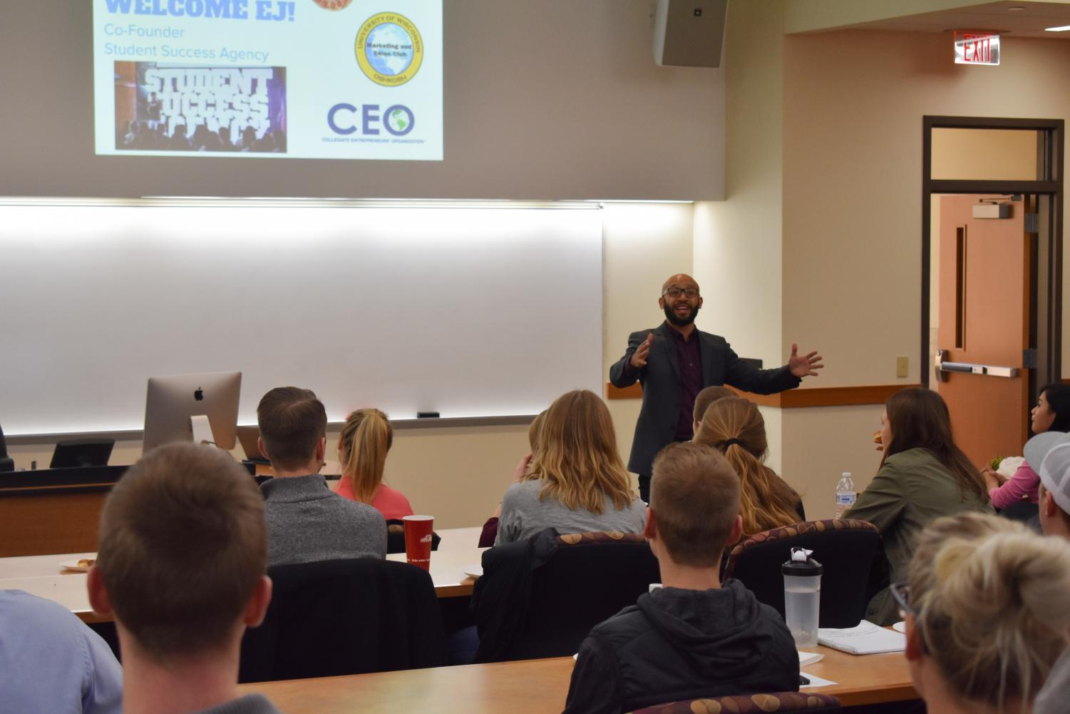Forbes top-30 entrepreneur under the age of 30 and motivational speaker, EJ Carrion, talks to the CEO Club about student success during and after college.