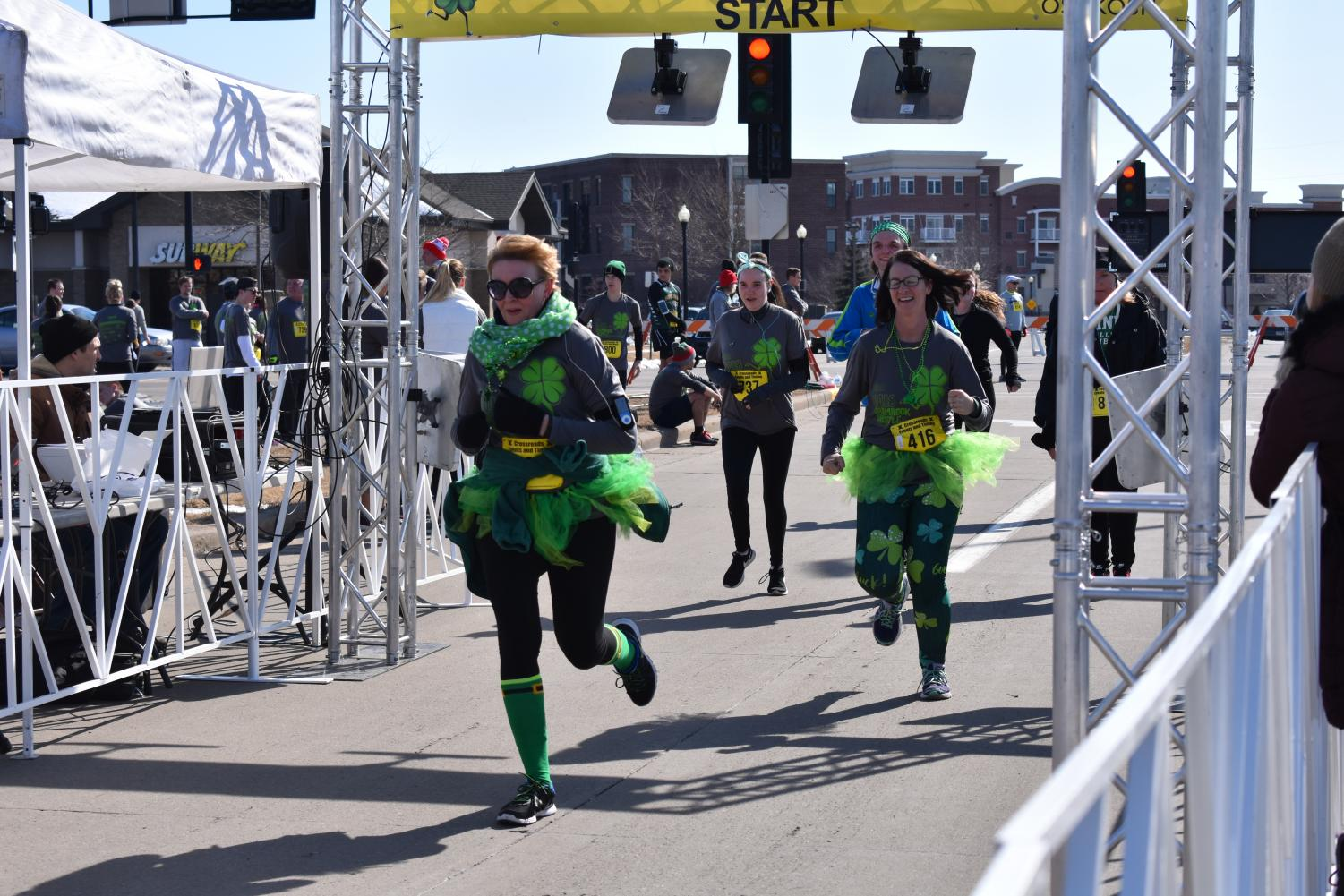 Oshkosh community members participate in the 2018 Spring Shamrock Shuffle and enjoy all of the festivities during the 5k Run/Walk on Saturday.