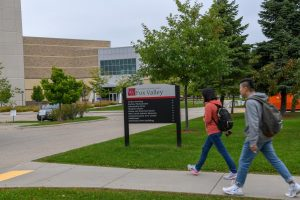On July 1 UW Oshkosh, Fond du Lac and Fox Valley officially merged. Pictured above are students walking on the three campuses that became one University.