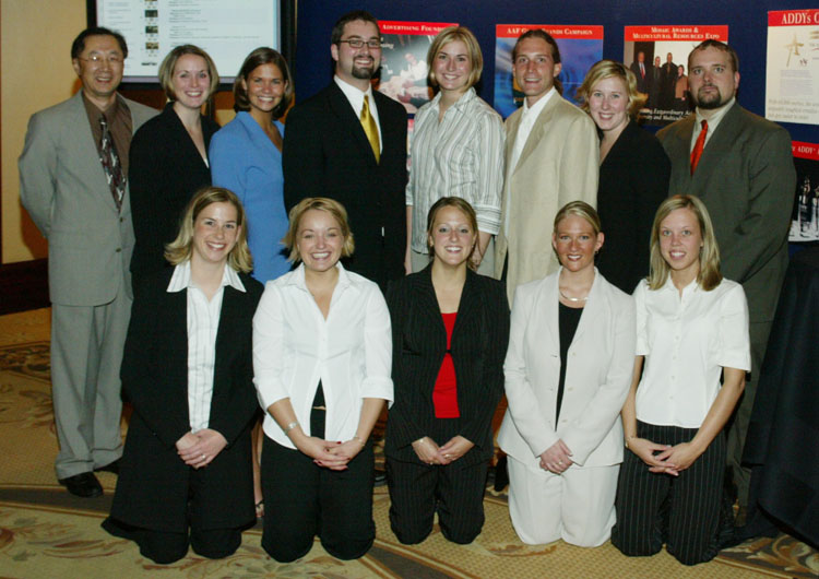 The UW Oshkosh team at nationals in 2003 with then-adviser James Tsao, far left.