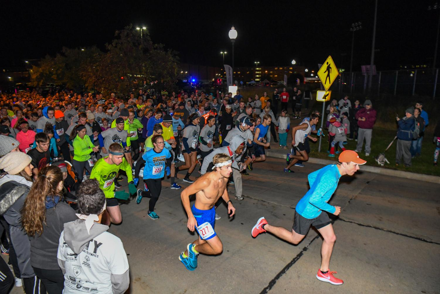 The annual Run With Cops 5K kicked off on Pearl Ave. at 7:30 p.m. on Friday, Oct. 5. on UWO campus.