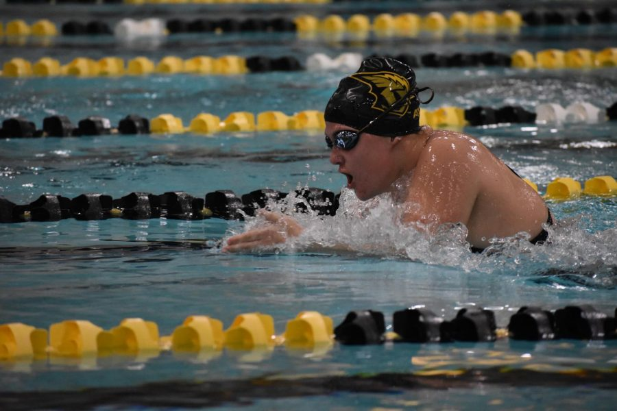 The+UWO+swim+and+dive+team+combined+for+four+first-place+finishes+despite+the+164-68+loss+to+the+Warhawks.