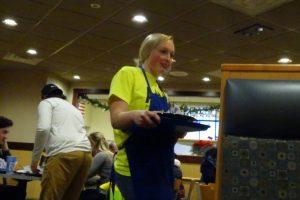 Volunteers help guests at Culver's on Koeller Street.