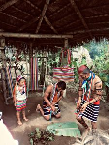 The Tsachilas de Santa Domingo tribe in Ecuador make hair color out of water and achiote, a crushed up seed.