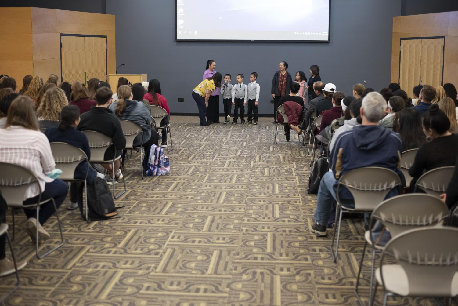 "UW Oshkosh hosted ""Hmong Women Share Stories of Hmong Culture and Surviving Genocide"" in Reeve Union on April 16 by welcoming local individuals to share their stories through presentations and videos."