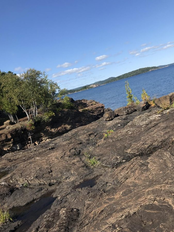 Alison Wintheiser enjoys the Northern Michigan sights with her brother