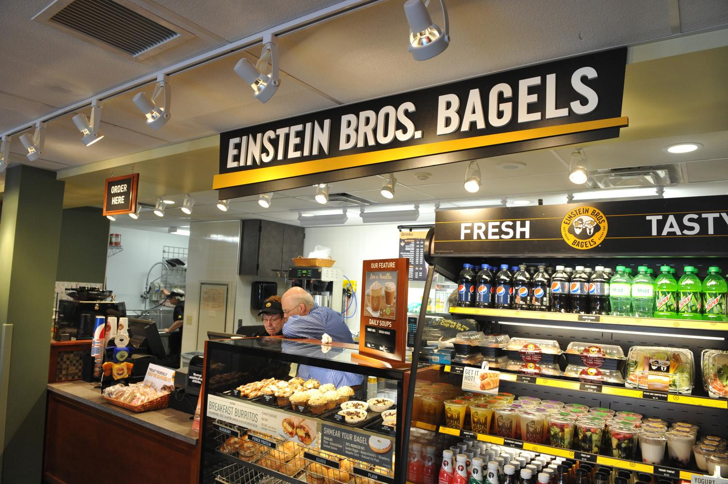 Above is Missouri University's Einstein Bros. Bagels. This is what the UWO Sage Cafe could look like when the transition to Einstein Bros. Bagels and Caribou Coffee occurs over the 2019 summer break.