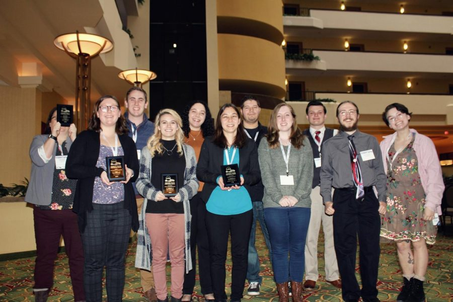 UW+Oshkosh+RTF+students+pose+with+their+WBA+awards.+Front+row+pictured+left+to+right%3A+Matilda+Cretens%2C+Taylor+Mueller%2C+Chris+Bjornstal%2C+Cora+Seibt%2C+Billy+Piotrowski+and+Jolee+Mallman.+Back+row+pictured+left+to+right%3A+Justine+Stokes%2C+Brandon+Fuller%2C+Crystal+Perez%2C+Shiloh+DeBauch+and+Cody+Barnes.