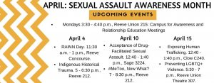 Officials respond to sexual assault and violence concerns