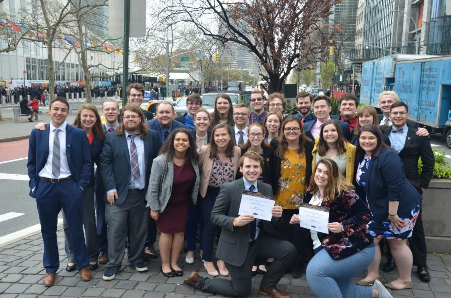 team photo of Model United Nations