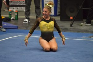 Gymnastics places fourth at nationals