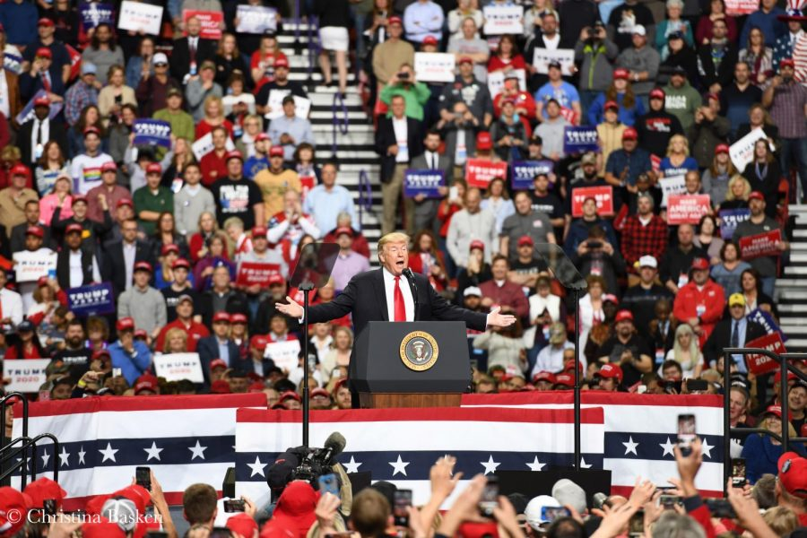 President Donald Trump talks about the accomplishments of his administration and his plans for re-election.