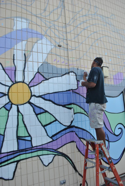 Artist Irineo Medina's previous mural in Appleton.