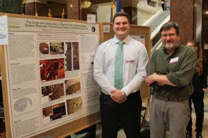 Michael Clark and his adviser, Dr. Eric Hiatt, pose with their research.
