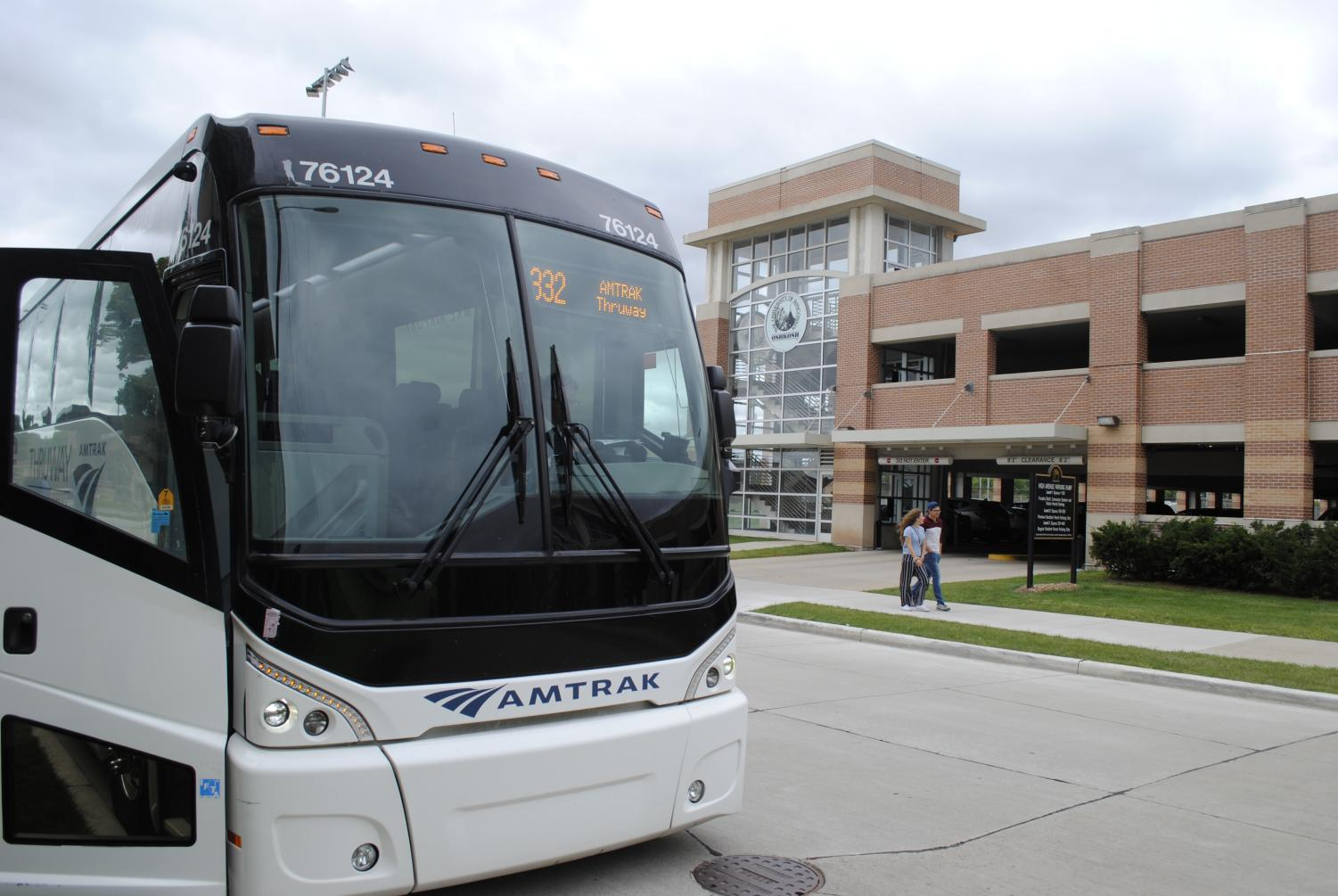 A new Amtrak bus route includes a stop at Gruenhagen Conference Center.