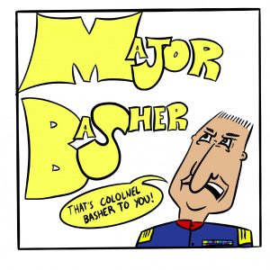 Major Basher comic