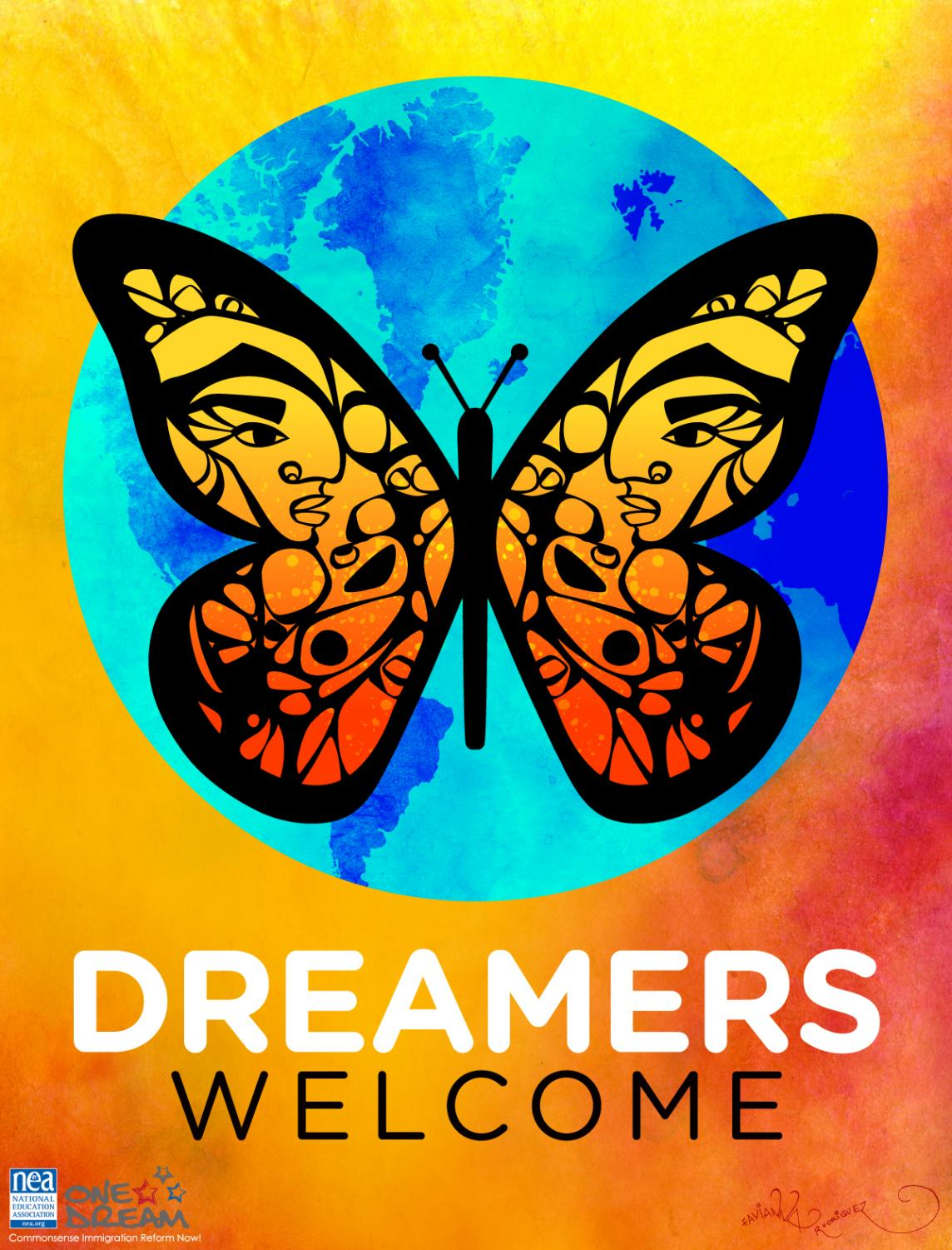 A placard was given to Dreamer Certificate Training participants.