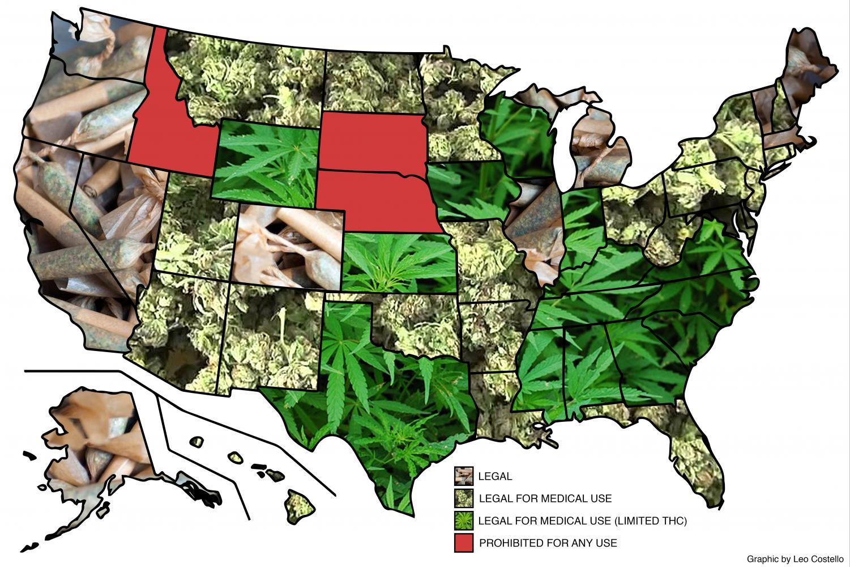 Map of US marijuana legislation