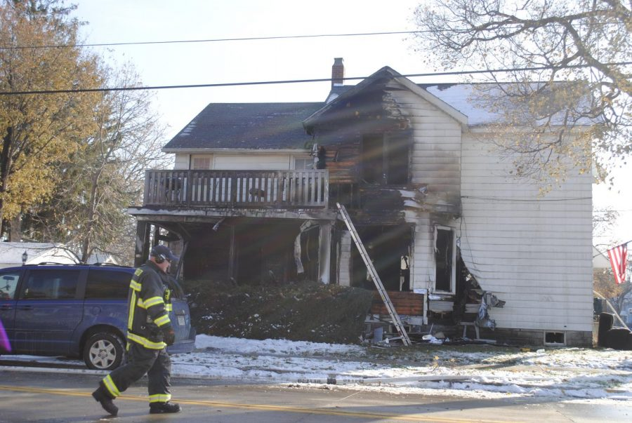 The house on Jackson Street was set on fire Nov. 14.