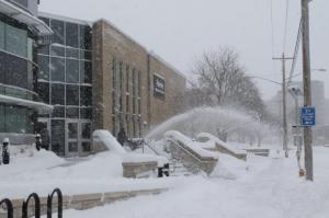 UW Oshkosh Grounds Maintenance Department struggles with snow removal