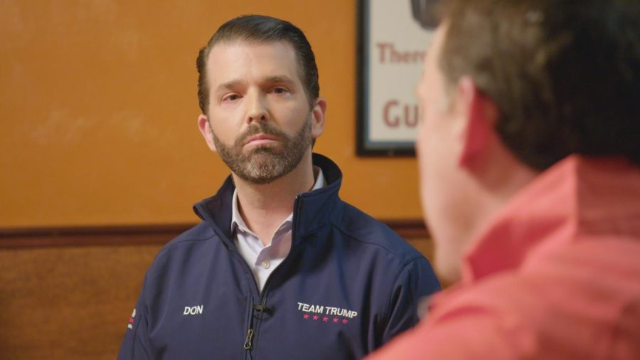 """Jim VandeHei interviews Donald Trump Jr. last Friday in Oblio's Lounge in front of a crowd of Republican voters that aired on """"Axios on HBO"""" Sunday."""