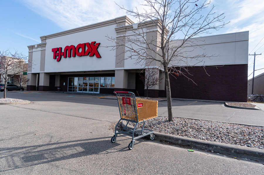Copyright T.R. Gleason — TJ Maxx parking lot in Oshkosh, shortly after the shutdown.