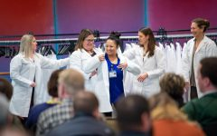 UW Oshkosh photo — UW Oshkosh held a white coat ceremony in November 2019.