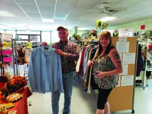 Doug (Left) and Lonie (Right) in the Second Chance Thrift Store.