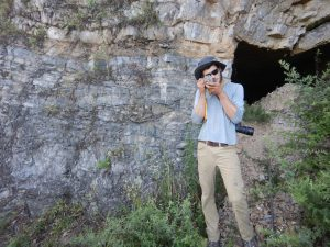 Max Schwid in China studying geology