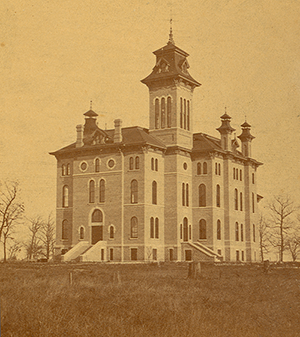 UW Oshkosh started with the Oshkosh Normal School opening in 1871 with eight faculty members and 43 enrolled students for the first day of regular classes.