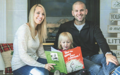 """Ben Lancour, author of """"Henry and the Gym Monster"""", with his wife Stephanie and his daughter Harper. Lancour's book will be published sometime this summer and will be available in hardcover, paperback, and e-book formats. The message Lancour wants children and educators to understand is the importance of responsibility."""