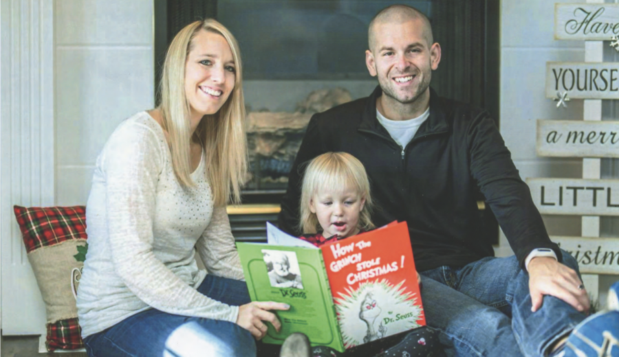 "Ben Lancour, author of ""Henry and the Gym Monster"", with his wife Stephanie and his daughter Harper. Lancour's book will be published sometime this summer and will be available in hardcover, paperback, and e-book formats. The message Lancour wants children and educators to understand is the importance of responsibility."