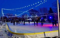 Courtesy of Michael J. Cooney | The Roe Park ice rink, which opened mid-January in downtown Oshkosh by the YMCA, is open from 5 a.m. to 11 p.m. every day.